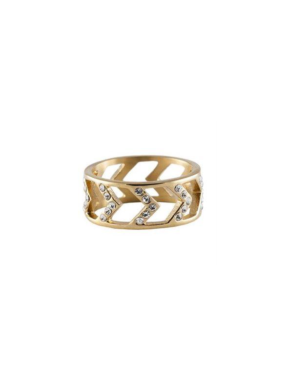 Gold Chevron Ring - Size 8