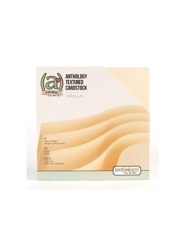 *50% OFF* Anthology Textured Cardstock Pack - Vanilla (30 sheets)  *SALE* WHILE SUPPLIES LAST